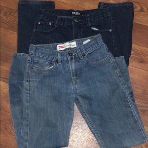 (2) Pair Boys Levi Jeans Bundle